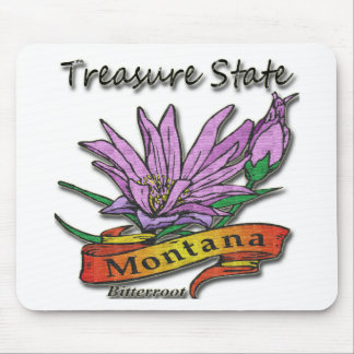 Montana Treasure State Bitterroot Mouse Pads