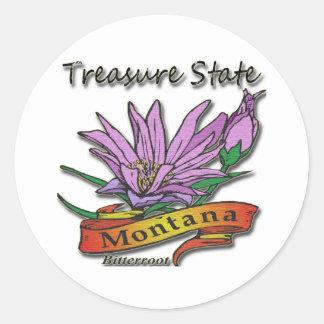 Montana Treasure State Bitterroot Stickers