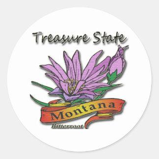 Montana Treasure State Bitterroot Sticker