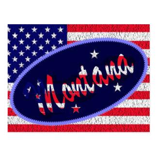 Montana US flag postcard