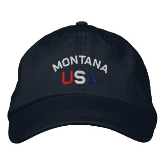 Montana USA Embroidered Navy Blue Hat