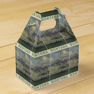 Montana USA Vintage Travel favor box