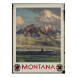 Montana Vintage Travel Poster Ad Retro Prints