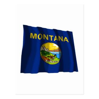 Montana Waving Flag Postcards