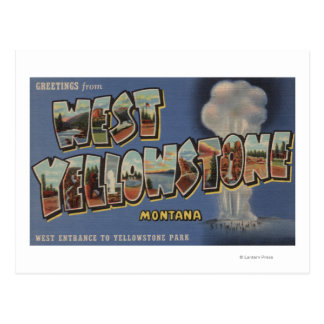 Montana - West Yellowstone - Large Letter Scenes Postcard