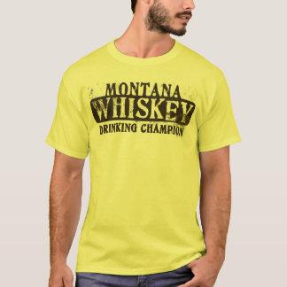 Montana Whiskey Drinking Champion T-Shirt