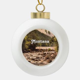 Montana Woodlands Ceramic Ball Decoration
