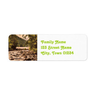 Montana Woodlands Return Address Label