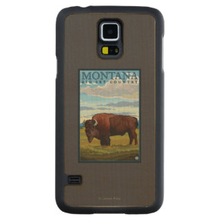 MontanaBison Vintage Travel Poster Maple Galaxy S5 Case