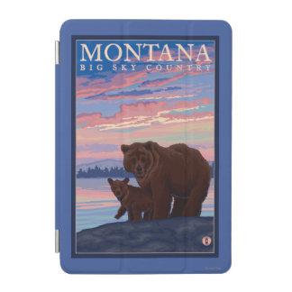 MontanaMomma Bear and Cub Vintage Travel iPad Mini Cover