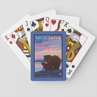 MontanaMomma Bear and Cub Vintage Travel Playing Cards