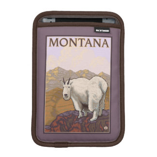 MontanaMountain Goat Vintage Travel Poster iPad Mini Sleeve