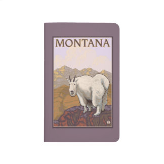 MontanaMountain Goat Vintage Travel Poster Journal