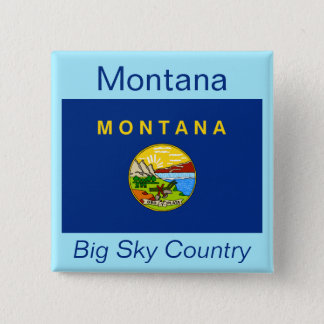 Montanan Flag Button