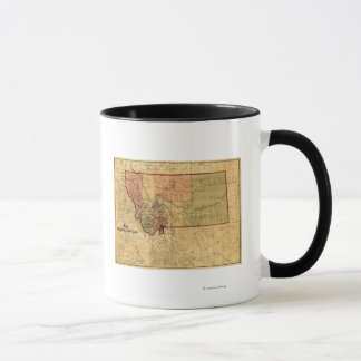 MontanaPanoramic MapMontana Mug