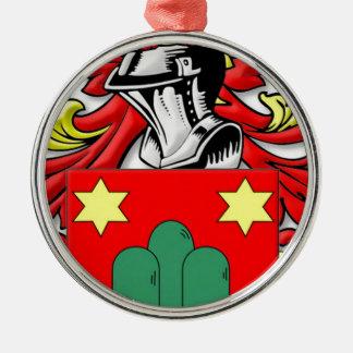 Montanaro Coat of Arms Round Metal Christmas Ornament
