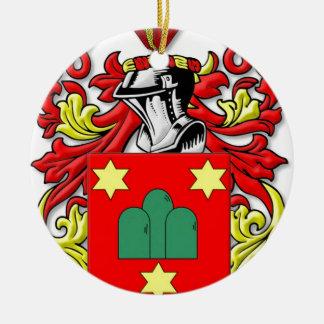 Montanaro Coat of Arms Round Ceramic Decoration