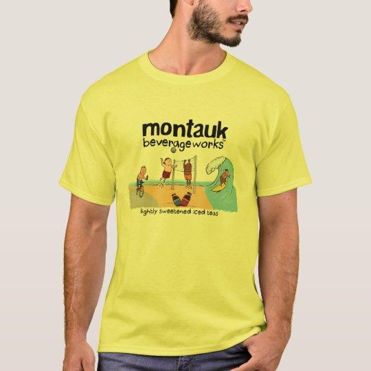 Montauk BeverageWorks - Beach and Iced Tea T-Shirt