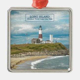 Montauk Point Lighthouse Christmas Ornament