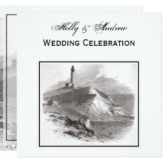 Montauk Point Lighthouse Hamptons SQ Wedding Card