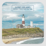 Montauk Point Lighthouse Square Sticker
