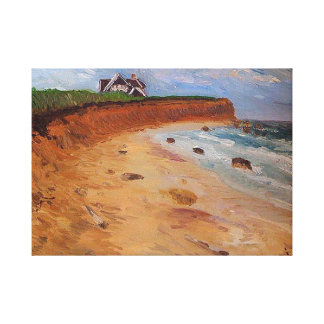 Montauk-The End, Original oil Painting by me Gallery Wrap Canvas