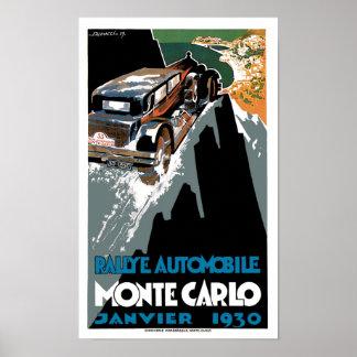 Monte Carlo 1930 Automobile Vintage Ad Art Poster