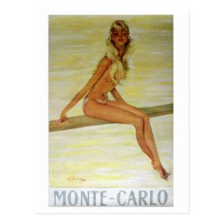 Monte-Carlo Art Nouveau Poster Art Postcard