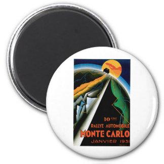 Monte Carlo Auto Rally ~ Vintage Automobile Ad Magnet