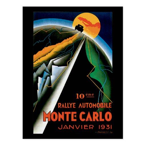 Monte Carlo Auto Rally ~ Vintage Automobile Ad Post Card