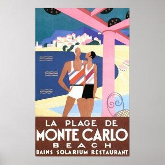 Monte Carlo Beach Poster