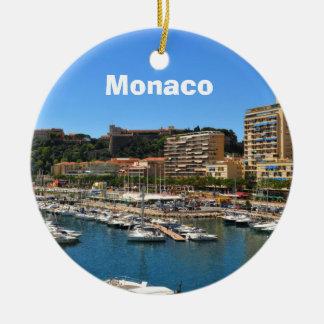 Monte Carlo in Monaco Round Ceramic Decoration