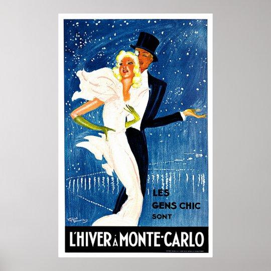 Monte Carlo Monaco Glamour Travel Art Poster