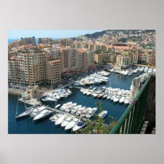 Monte Carlo Monaco Marina and Condos Posters