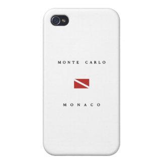 Monte Carlo Monaco Scuba Dive Flag iPhone 4 Covers