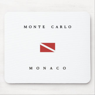 Monte Carlo Monaco Scuba Dive Flag Mouse Mat