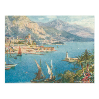 Monte Carlo Sea View Postcard