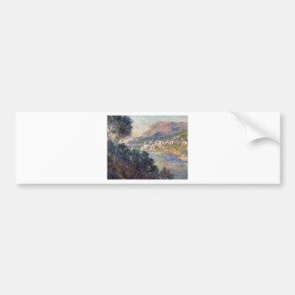 Monte Carlo Seen from Roquebrune by Claude Monet Bumper Sticker
