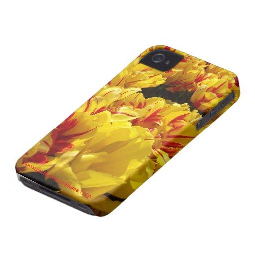 monte carlo tulips Case-Mate iPhone 4 cases