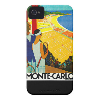 Monte Carlo Vintage Travel Poster iPhone 4 Case