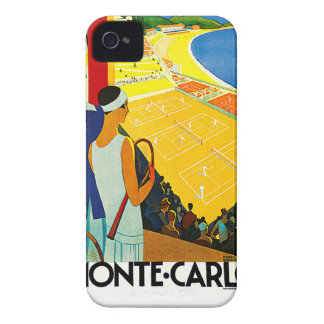 Monte Carlo Vintage Travel Poster Blackberry Case
