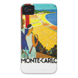 Monte Carlo Vintage Travel Poster iPhone 4 Covers