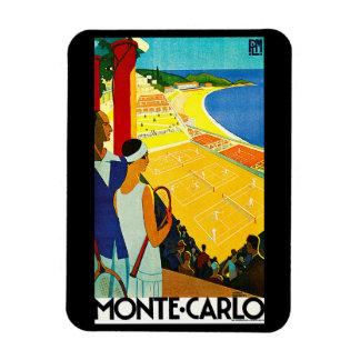 Monte Carlo Vintage Travel Poster Flexible Magnet