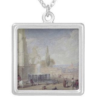 Monte Cavallo, Rome Silver Plated Necklace
