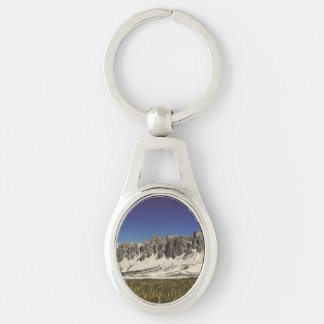 Monte Metformin Silver-Colored Oval Key Ring