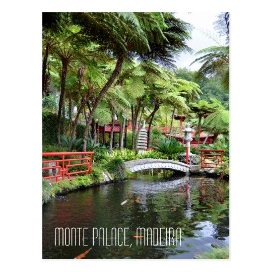 Monte Palace Tropical Gardens Madeira Portugal Postcard