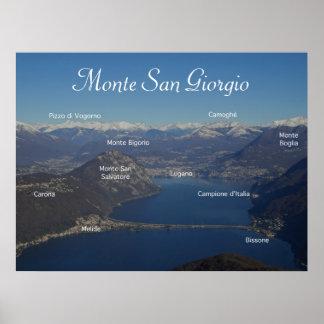 Monte San Giorgio - Swiss Alpine Skyline Poster