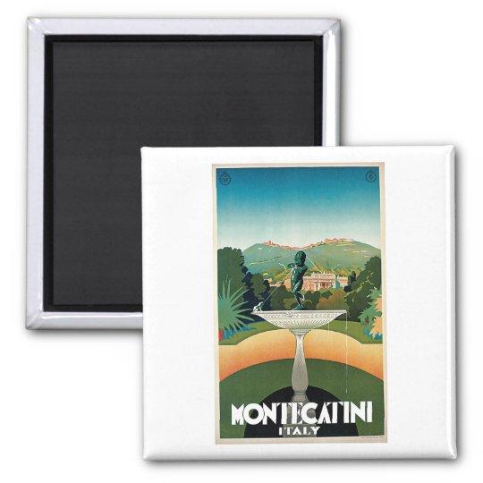 Montecatini Italy Vintage Travel Magnet