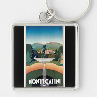 Montecatini Italy Vintage Travel Poster Key Chains