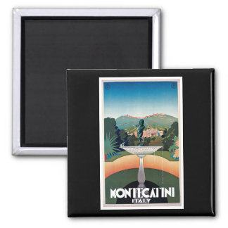 Montecatini, Italy Vintage Travel Poster Magnet